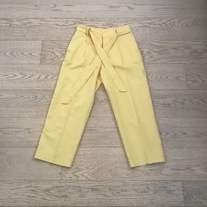 Zara Yellow Crop Pants Small EUC